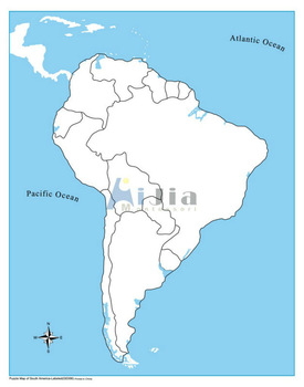 Montessori Unlabeled South America Control Map Buy Montessori