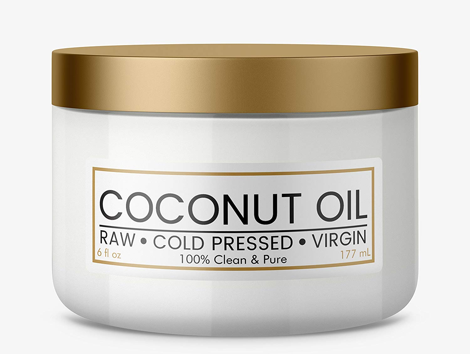 Pure, Organic, Coconut Oil for Hair & Skin, Raw, Cold Pressed, Extra Virgin (6 oz)