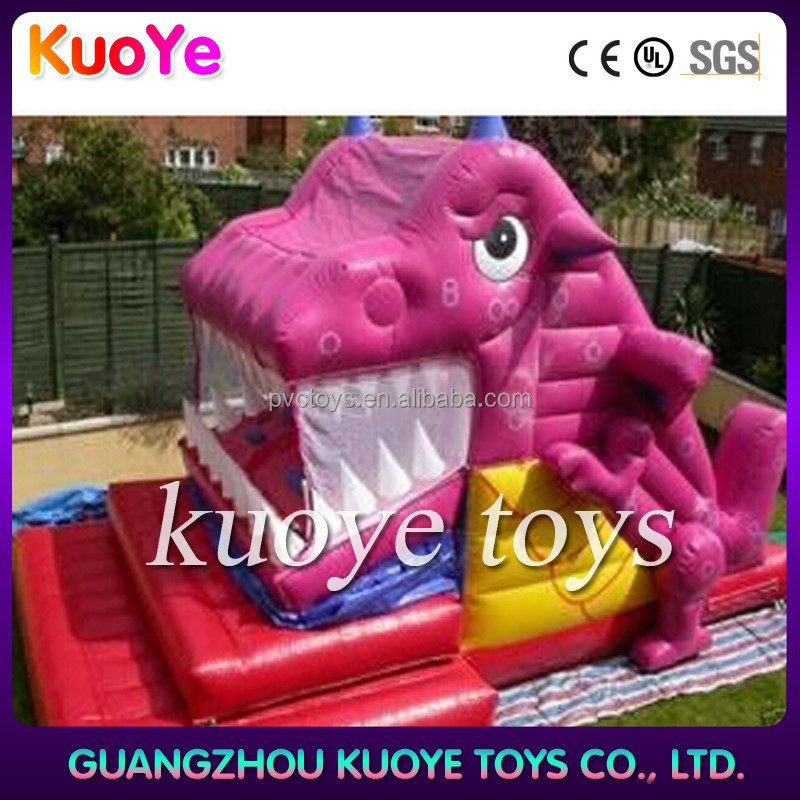 inflatable automated dragon slide, inflatable dinosaur slide for sale, exciting giant slide