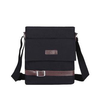 high quality small sports black canvas vintage messenger shoulder bag for  men in china 3e491ebe35