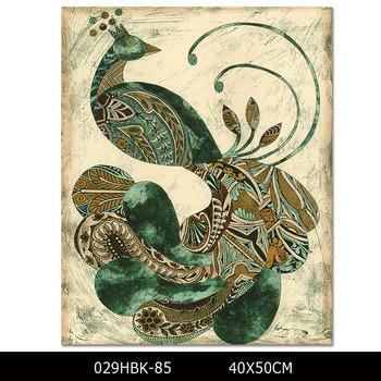 Ausgezeichnete Qualität Gedruckt Moderne Abstrakte Pfau Malerei Für Wohnzimmer  Wandkunst Druck Tier Pfau Leinwand Malerei