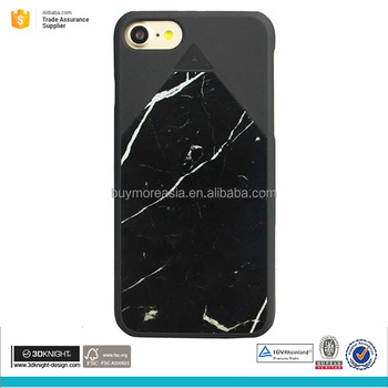Mobile phone accessories natural black marble phone case for iphone 7 plus case