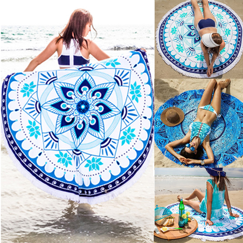 2016 Fashion Hippie Boho Summer Beach Throw Towel Yoga Mat Decorative Wall Hanging Indian Mandala Tapestries Home Decor 148cm