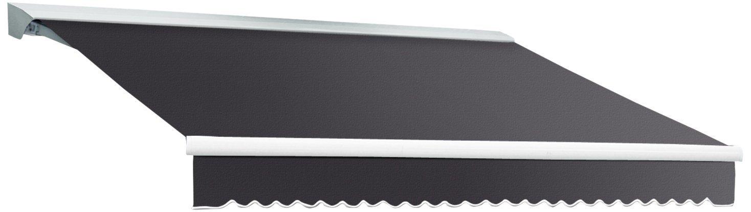 Awntech 8-Feet Destin LX with Hood Manual Retractable Acrylic Awning, 84-Inch Projection, Gun