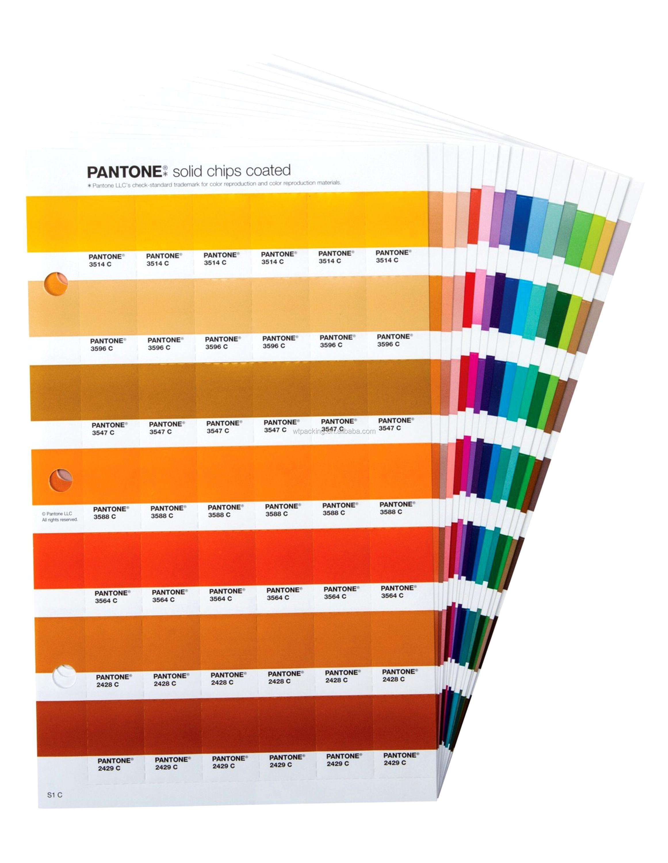 2 Books/set Pantone Color Solid Chips Coated And Uncoated Color Book ...