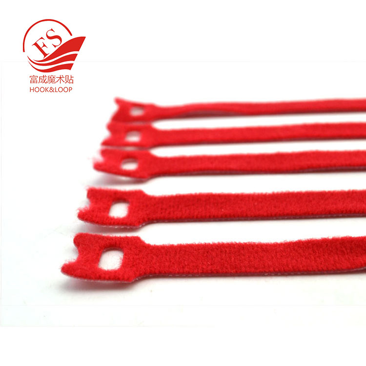 Wholesale custom reusable sizes Colorful Nylon Hook and Loop Cable Ties
