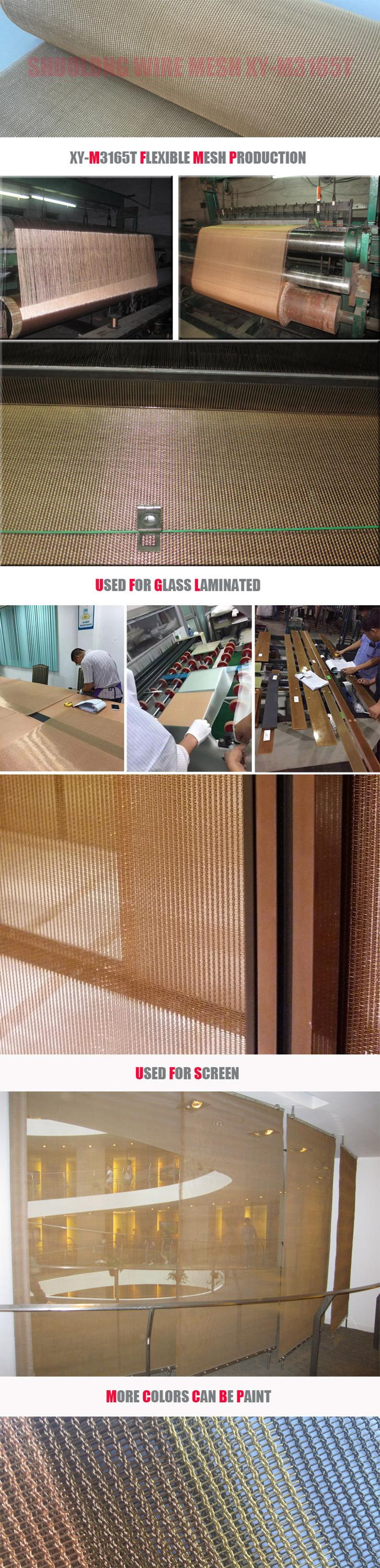 Shuolong Mesh Rigid Series XY-0815 Stainless Steel&Copper Decorative Wire Mesh for Partition