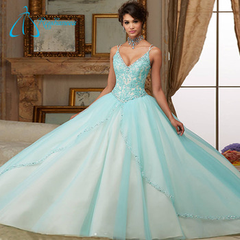 Sequined Beading Crystal Quinceanera Dresses Little Girls - Buy ...