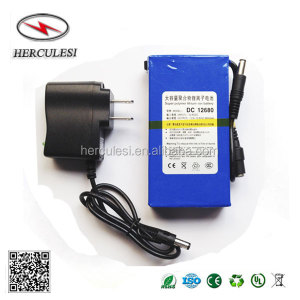 Rechargeable Li-Ion Polymer 12V 6800mAh Mini DC-12680 Battery Pack Backup Power Supply