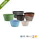 Plain Painted Low Flower Pot With Automatical Watering System