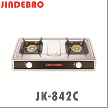 JK-842C 2 burners stainless steel table-top gas cooktop/gas range/gas stove