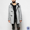 winter coats for men korean style side pouch pockets woolen men jackets with hood