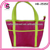 Wholesale fashion neon satin ladies handbag