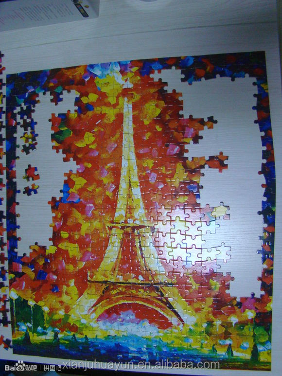 500 pieces Custom educational adults games paper box jigsaw puzzle,China