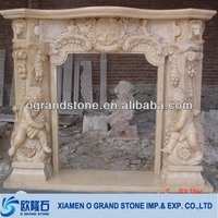 anitique artificial marble fireplace surround mantel