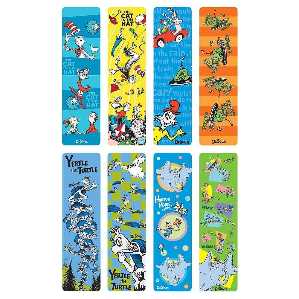 Get Quotations Set Of 8 Dr Seuss Bookmarks