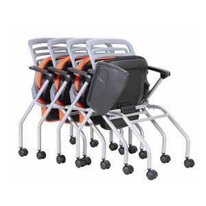 Student Folding Study Meeting stacking office chair With Writing Pad