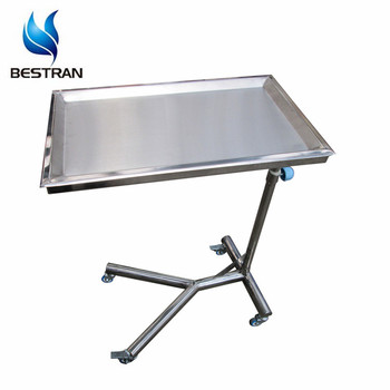 BT SMT001 Operating Room Stainless Steel Instrument Tray Tables With Wheels