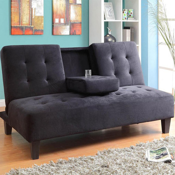 Good Design Fabric Futon Storage Sofa Bed With Cup Holder Lazy Boy Leather