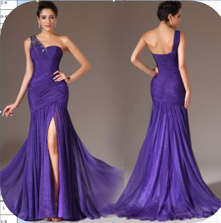 Venta al por mayor vestidos de un hombro de noche-Compre online los ...