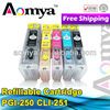 TOP quality !!Refillable CLI-251 PGI-250 ink cartridge for Canon with auto reset chip chip