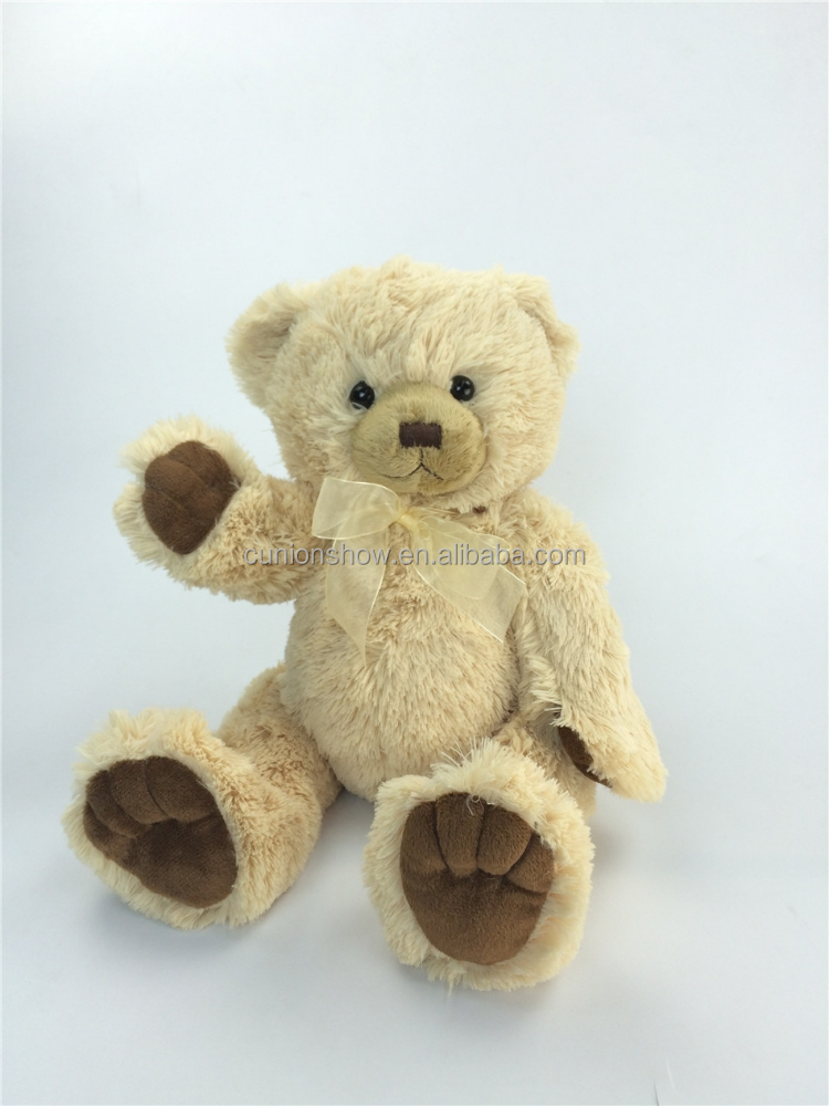ICTI and SEDEX audit peluche wholesale OEM design 25cm soft plush promotional soft joint teddy bear toy