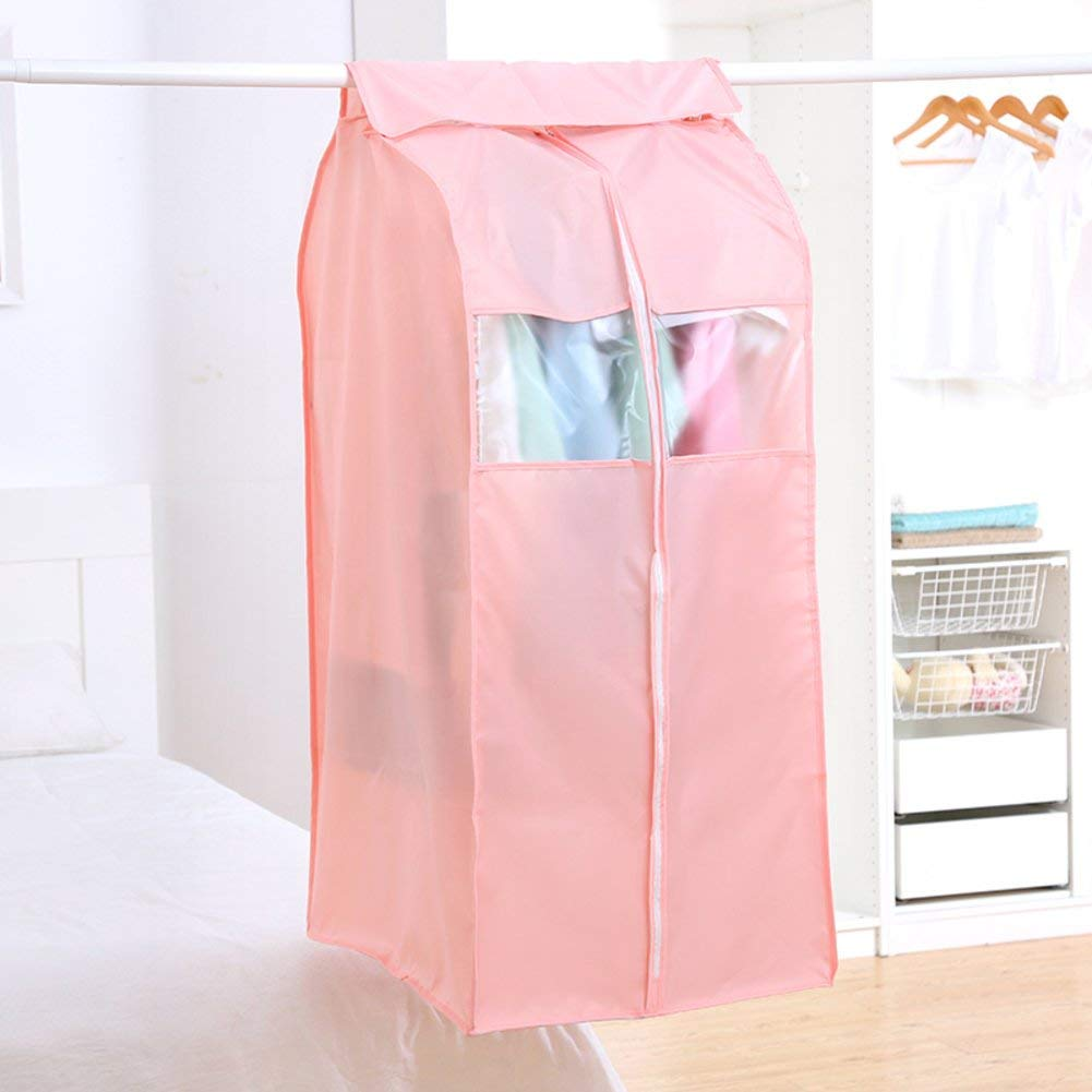 Garment cover dust-proof cover dust cover for household clothes hanging pocket storage bag coats, coats, dust shields. moisture storage bag-D 110x60x50cm(43x24x20inch)