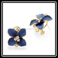 China Top Ten Selling Products Gold Flower Stud Earrings India Jewellery Manufacturing HGJ0043