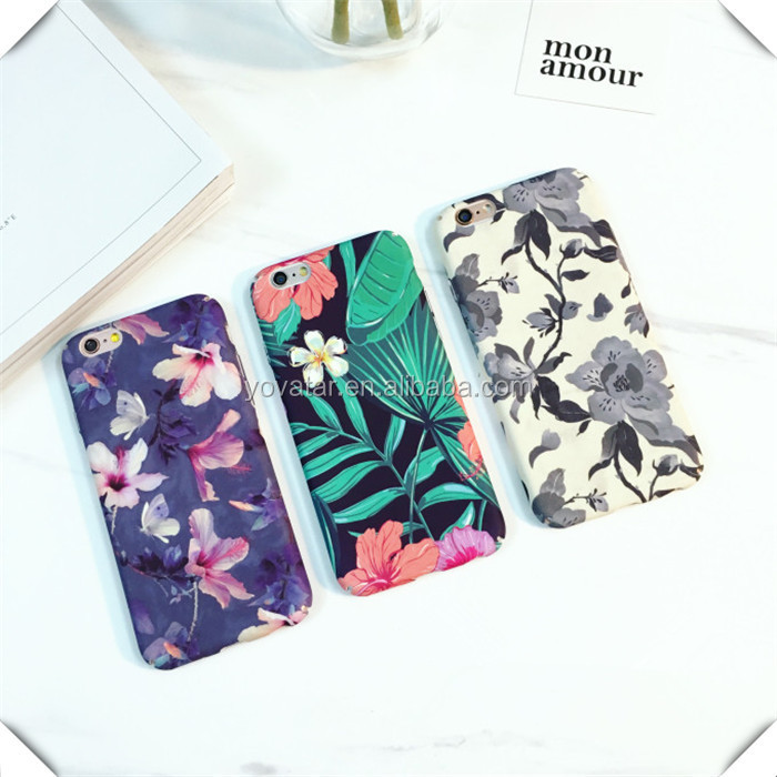 Classical Flower For iPhone 6 Case Leaf Phone Case For iPhone 6 Plus Case
