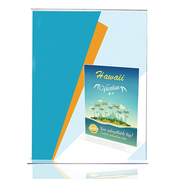 t table tent display plexiglass advertising signs clear acrylic desk