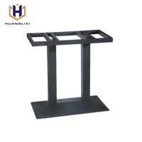 Trade assurance hotel hotpot metal cast iron coffee table base for granite top