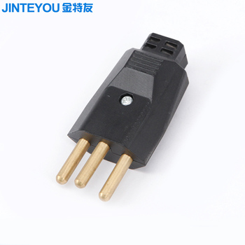 Hot 3 Pin Brazil Type Electric Plug
