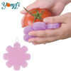 Multipurpose Fruit and Vegetable Scrubber Brush Antibacterial Silicone Sponge Kitchen