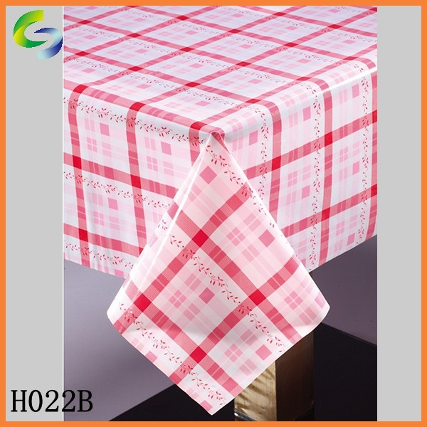 High qulity pvc table cloth for wedding decoration