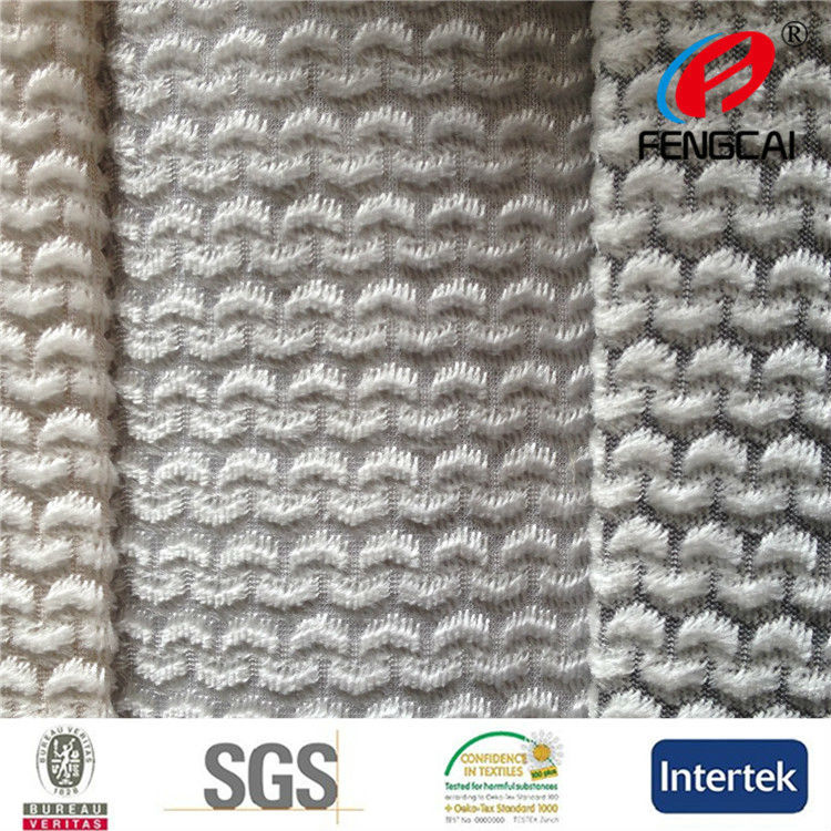China Manufacturer produced new design knit polyester black and white stripe velvet fabric