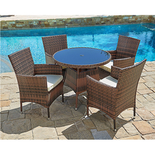 Garden used tables and chairs for restaurant PE Wicker/rattan Outdoor Pool Furniture