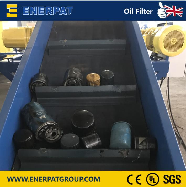 गर्म बेचने ब्रिटेन इंजन तेल फिल्टर के लिए पूरा संयंत्र रीसाइक्लिंग लाइन