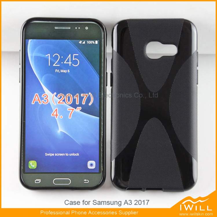 For Samsung A3 02017 TPU Case, X Line tpu gel cover for Samsung A3 2017 mobile phone