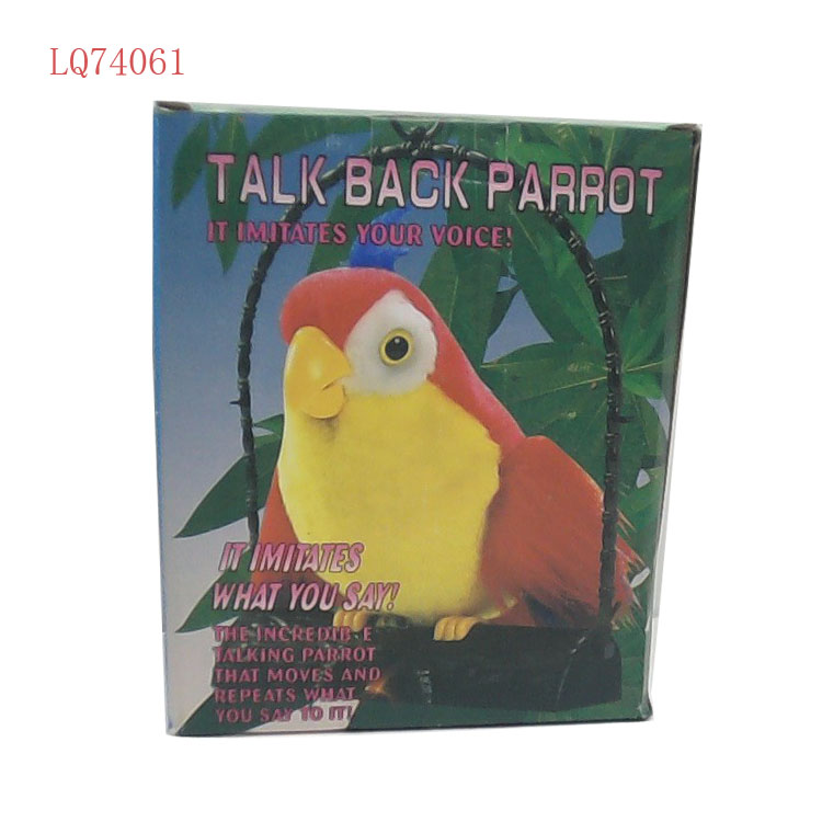 Battery operated zingen vogel praten papegaai speelgoed pluche opname gift best selling christmas items elektrische speelgoed