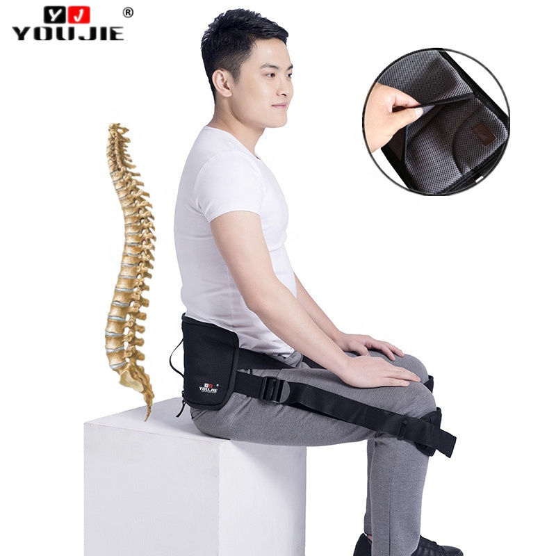 Wholesale Sitting Posture Corrector Lumbar Corset Back Brace Support Belt for Decompression Lumbar
