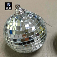 2-100CM mirror ball disco christmas mirror ball ornaments