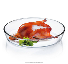 China Supply Wholesale borosilicate pyrex glass baking pan, oven safe glass baking dish , oval glass baking tray