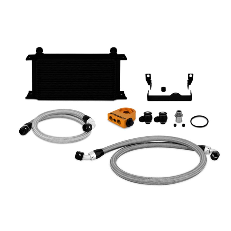 Mishimoto MMOC-WRX-06TBK Black Thermostatic Oil Cooler Kit for Subaru Impreza WRX/WRX STI