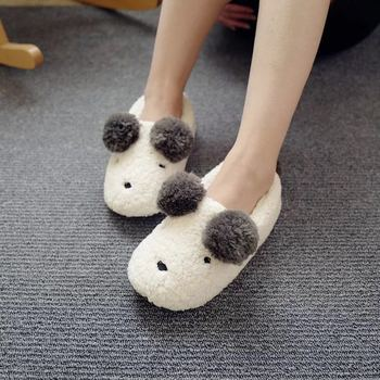 Ty Cute Dog Winter Wholesale shoe Women Home Slippers Boots With pompon kids slipper