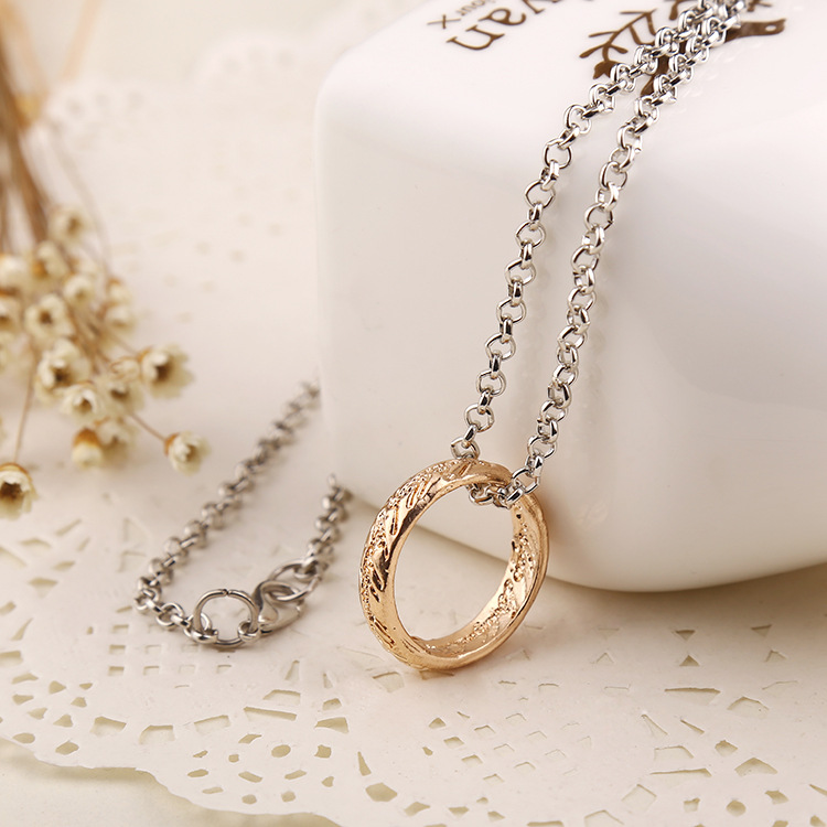 2016 Movie Theme Gold And Silver Color Ring Pendant Collar Movie Lord Jewelry Colar Party Jewellery