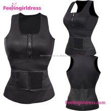 Wholesale double compression tummy slimming vest body shaper for women