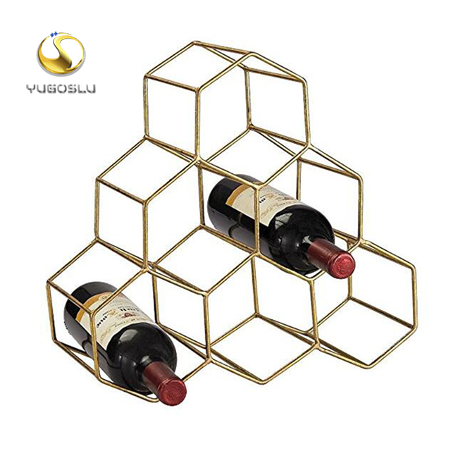 factory supply OED ODM 6 Wine Bottle Wine Rack, metal Freestanding wine Holder