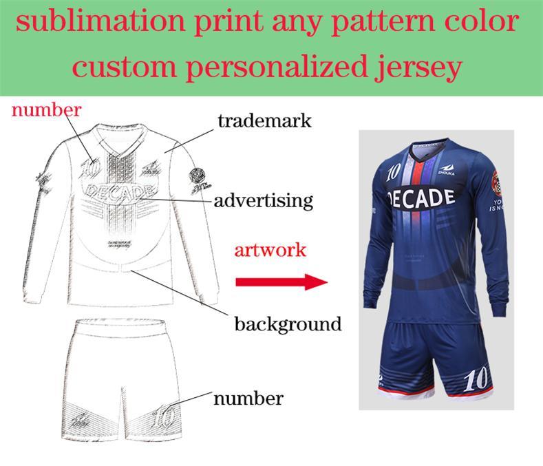 quality design 3b31b e2f0a Custom football team jersey full sublimation print ...