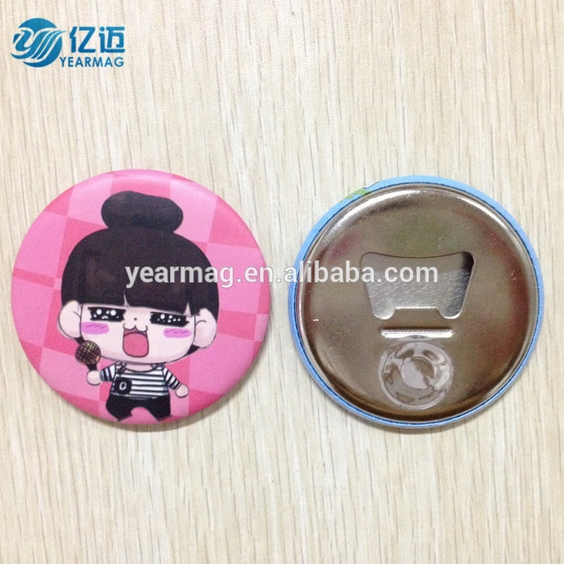 High quality cheap souvenir tin metal magnetic bottle opener for promotional gifts