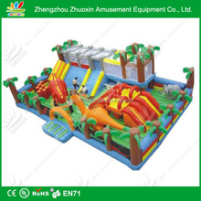 PVC tarpaulin giant kids inflatable playground / inflatable dragon city playground